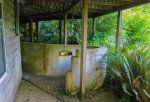 The outdoor shower, just outside the bedroom