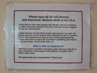 No cell phones, for a very good reason