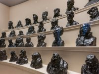 Caricature sculptures of French parliament by Daumier