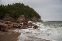 Some of the rugged coastline along the trail