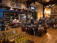 The gift shop at the winery, decked out for Xmas