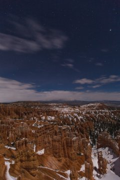 Bryce Canyon by moonlight. My timing on the Salt Lake trip wasn't perfect.