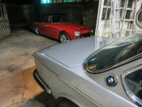 Datsun and BMW, happily playing together