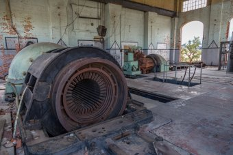 Both turbine/generator sets, what's left of them.