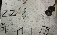 Some of the famous signatures backstage