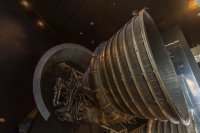 The business end of a Saturn V engine. Go, baby, go...