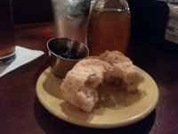 Mmm...biscuit with jam and tupelo honey