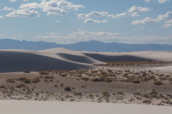 "White Sands vista. The ""sand"" is actually gypsum crystals."