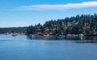Entering Friday Harbor on the ferry