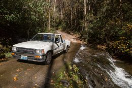 The mighty Toyota, climbing every mountain, fording every stream...