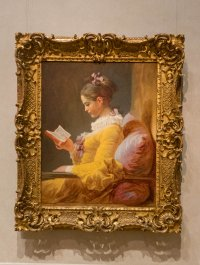 A Young Girl Reading (Fragonard). Reminds me of my niece.