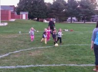 An unstoppable wave of four year old soccer fiends