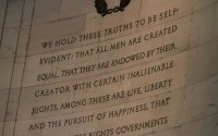 The words of Thomas Jefferson from the Declaration of Independence