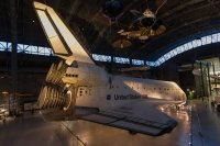 The space shuttle Discovery, first to be decomissioned