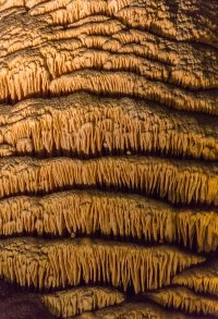 Closeup of the side of a column. This takes hundreds of thousands of years.