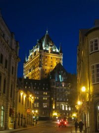 Night view of the Château Frontenac